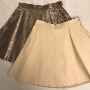 American Apparel real leather suede circle skirt